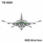 YS-X024 3D DIY Chest Flowers BIG Tattoo Stickers Colorful Hot Flashes Waterproof Tatoo Body Art Temporary TATTOO Sticker
