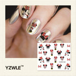 YZWLE 2017 New Hot Sale Water Transfer Nails Art Sticker Manicure Decor Tool Cover Nail Wrap Decal (YZW122)