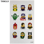 Yellow Banana Little Cute Man Cartoon Tattoo Stickers Flash Temporary Tattoos Waterproof Children Kid Cartoon