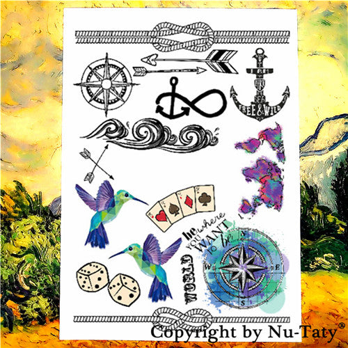 Young, Fashion, Tattoo Stickers, Water Transfer, Temporary Body Art, Waterproof 3-5 Days