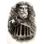 Zeus temple Waterproof Temporary Tattoo sticker Greek the king of gods Fake Tattoo body art Henna Tatoo sleev harajuku men
