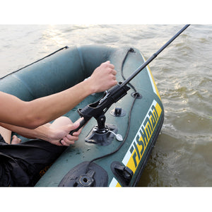 fishing rod holder device pole pvc inflatable boat accessory sup board kayak clamp holder mount angle direction adjustable