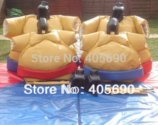 japanese inflatable sumo suits/sumo wrestling suits with mats for kids and children