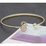 Charm Bracelets For Women Fruit Pineapple Rhinestone Alloy Gold Silver Plated Bracelets & Bangles Fashion Bangles Fine Jewelry