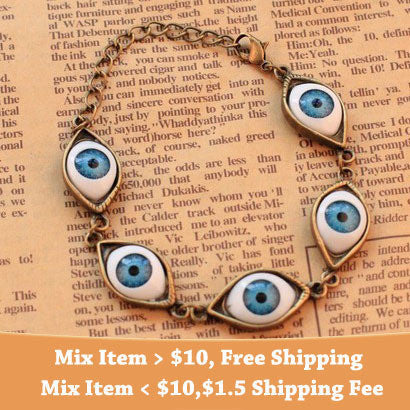 Brand designer New Fashion Retro style Exaggerated punk Eyes Bracelets jewelry for women 2014 Wholesale PD26