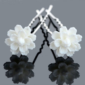 Wholesale 20Pcs Lots Charms Lotus Flower Wedding Bridal Hair Pins Hair Accessory