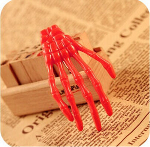 HOT SALE Skeleton Claws Skull Hand Hair Clip Hairpin Zombie Punk Horror Bobby Pin Barrettes hair clip Fashion Jewelry
