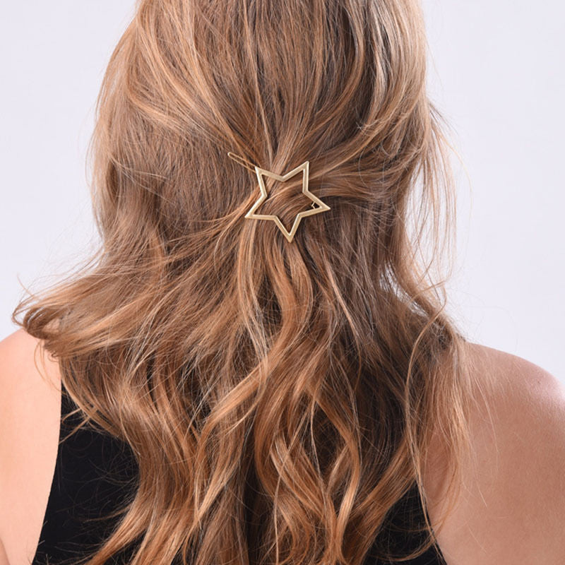1PC NEW Fashion Women Girls Star Heart Hair Clip Delicate Hair Pin Hair Decorations Jewelry