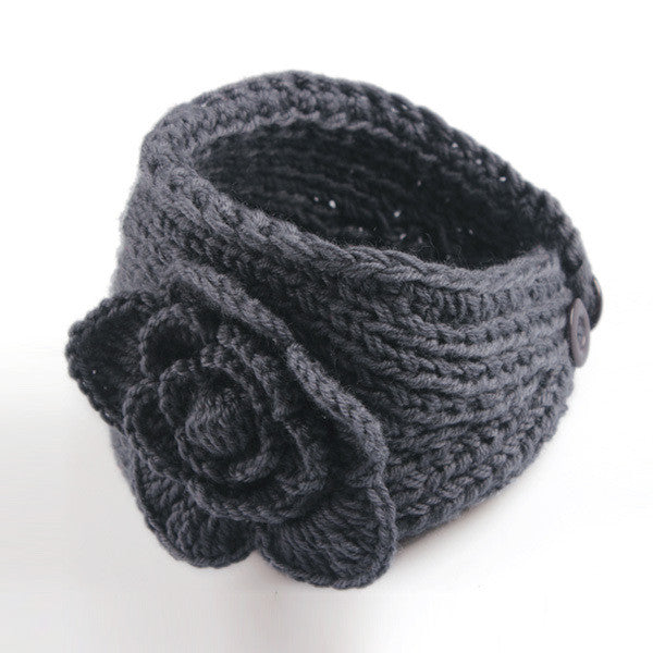 Beauty High Quality Winter Fashion 13 Colors Flower Crochet Knit Knitted Headwrap Headband Ear Warmer Hair Muffs Band