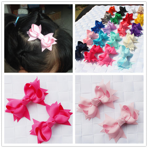 bowknot baby children kids hair ribbon bows hairclip for girls hair clips pin barrette ornaments accessories hairpins hairgrip