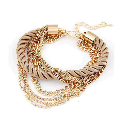 New Fashion rope chain bracelet decoration for girl of six colors hot selling bracelet for special summer party accessory