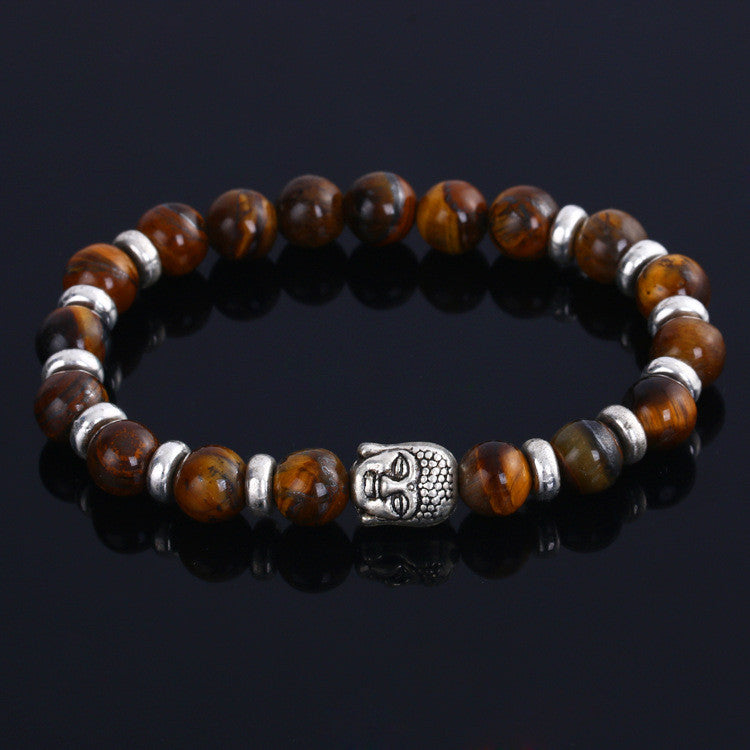 2016 Hot vintage 4 colors Lava Stone Buddha Beads Bracelets Rope for men and women charm Bracelets party jewelry