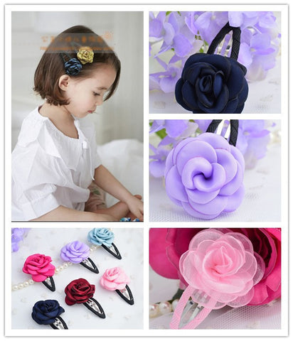 Baby Child Hair Accessory Lace Princess Flower Hairpin Beautiful Girls Hair Clips Baby Hair Pins Free Shipping