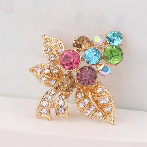 New Arrival Multi Color Crystal Brooch Pin Jewelry For  Women Fashion High-end Elegant  Brooch