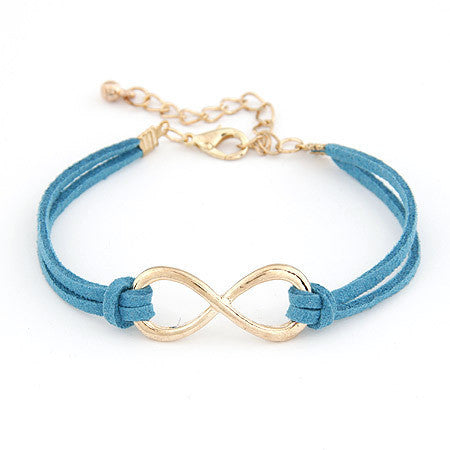 2014 Brand Design Korean Various Colors Fashion Vintage Pure hand Infinity Bracelets Jewelry Statement wholesale Hot salesPD26