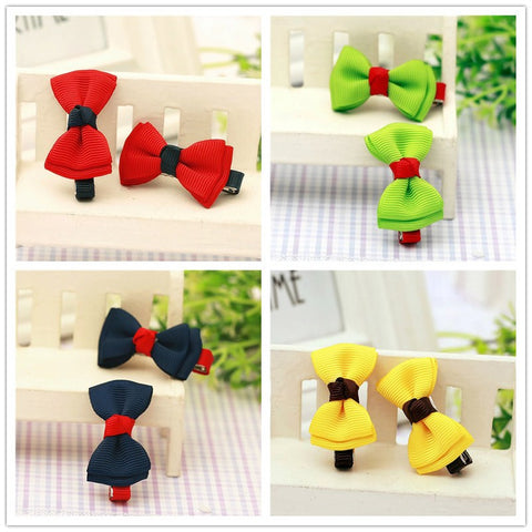 bowknot baby girl kids children ribbon hair bow clip pins barrette hairpins hairclip accessories ornaments hairgrip headdress