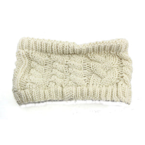 Newly Autumn Winter Crochet Knitted Woolen Headband For Women Girl Thick Warm Turban Stretchy Headwraps Hair Accessories