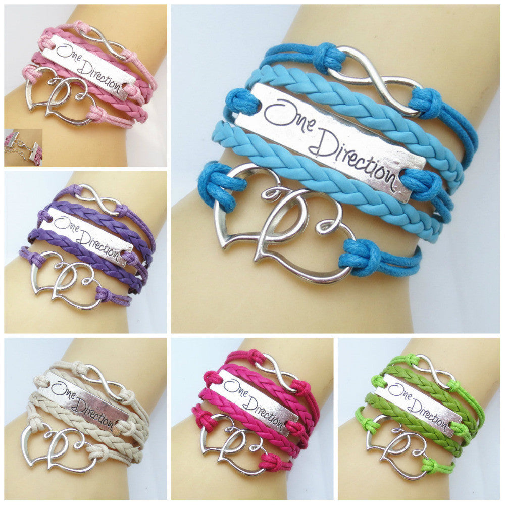 2016 Fashion Infinity LOVE infinite multilayer bracelets factory charm price wholesale pulseira couro feminino pulseiras - Cerkos.com