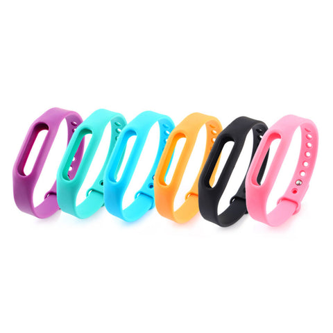 6Colors Colorful Silicone Replace Belt Strap For Xiaomi Mi Smart Wristband Mi Band Bracelet Replacement Band Accessories