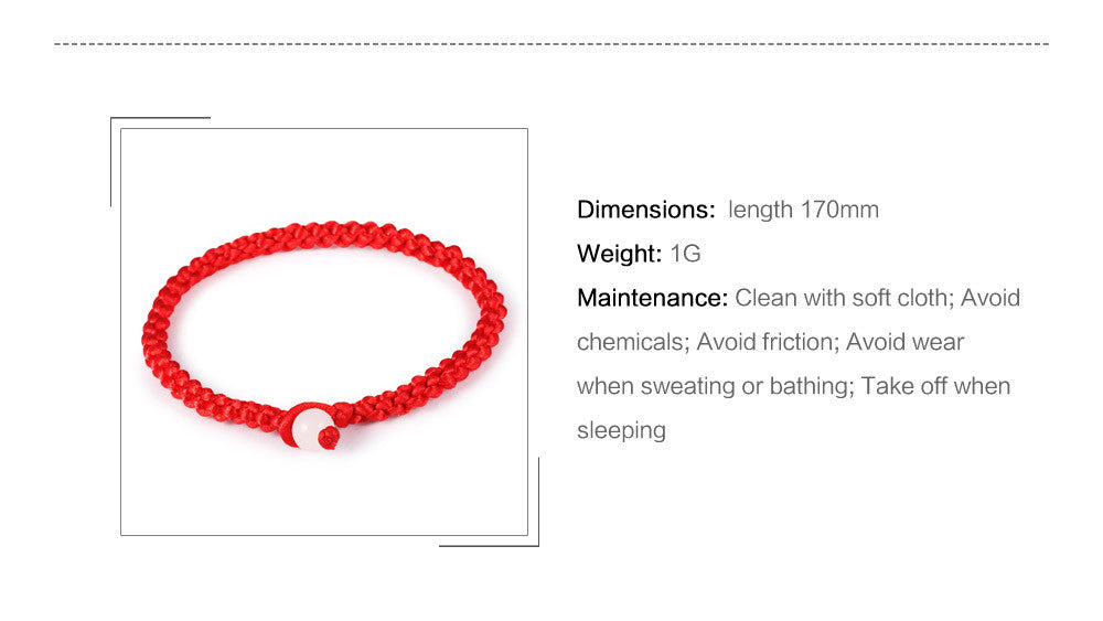 Chinese Red Rope Charm chain Lucky Bracelets Bangle Handmade  Women Men Fashion Jewelry For Unisex Cheap Price