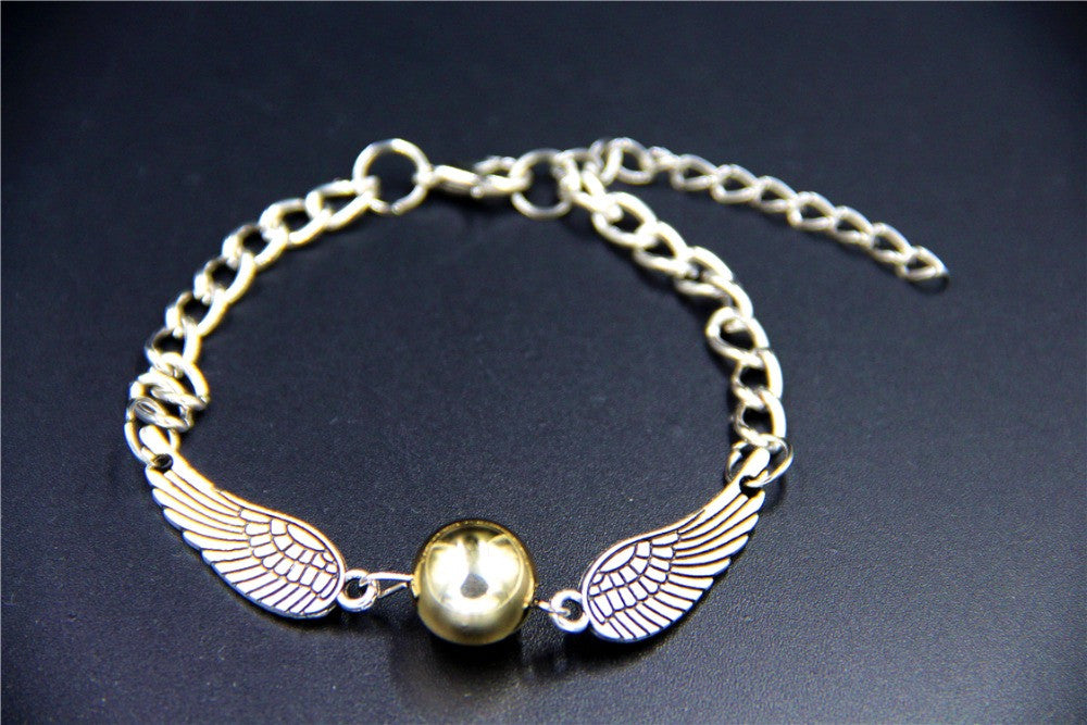 2015 Fashion Jewelry Vintage Charm HP Golden Snitch Bracelet