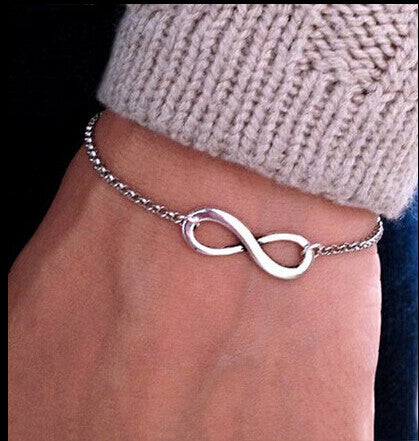 SL040 Hot New 2015 Bijoux Fashion Vintage Infinity 8 Bracelet For Women Bracelets Gift Wholesale Bangles Men Jewelry