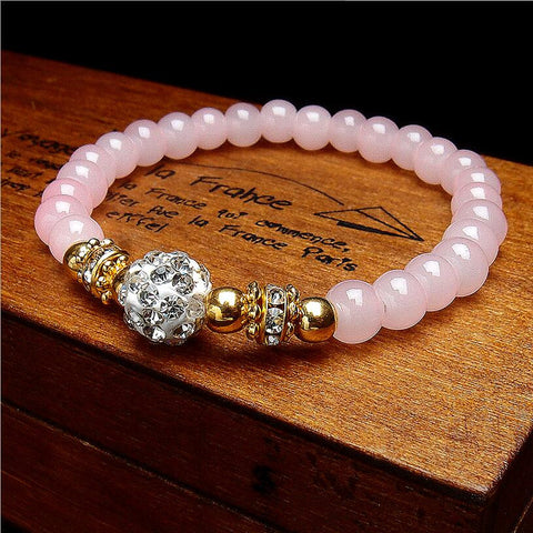 2016 Hot Sell New Shambhala Rhinestone Single Layer Crystal Beaded Bracelets Bangles Jewelry Gifts Women Free Shipping Wholesale