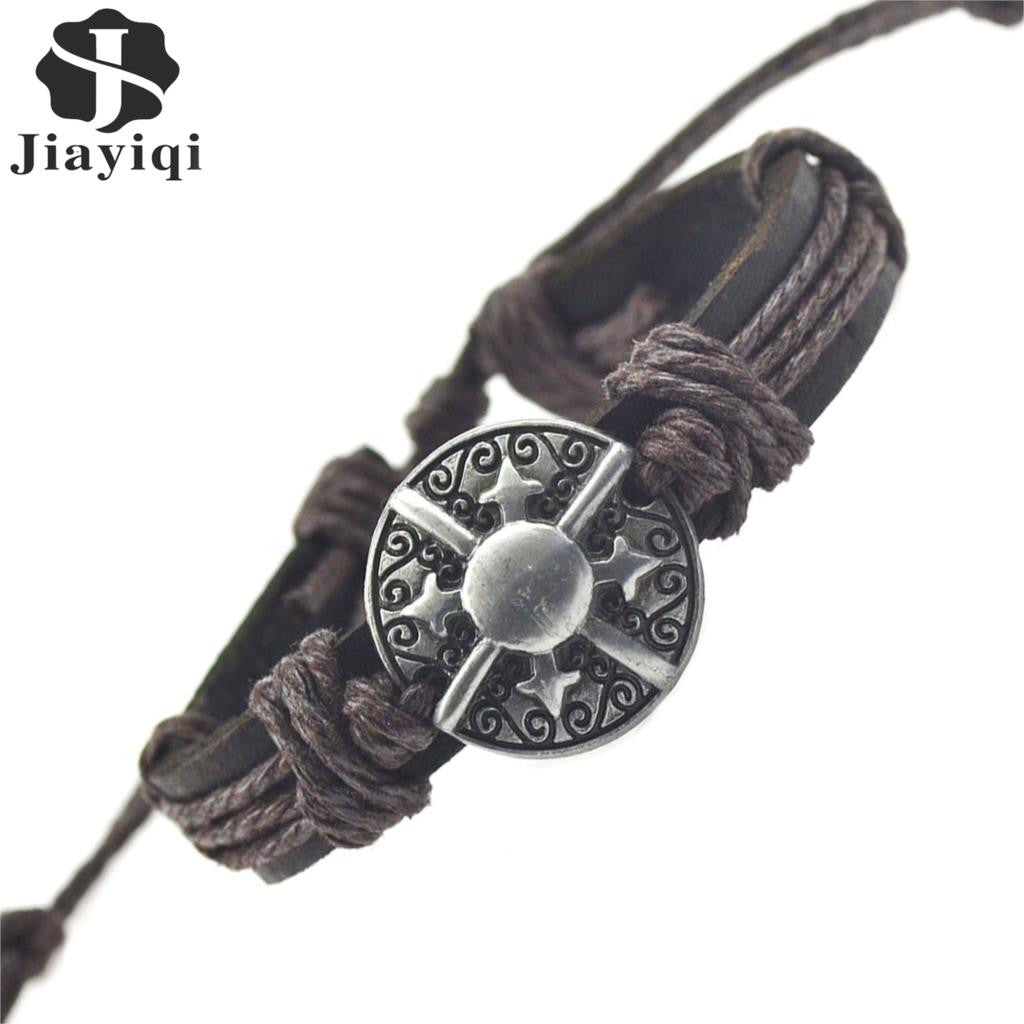 New Star Leather Bracelets & Bangles for Women Men Jewelry Friendship Charm Bracelets Fashion Accessory 2015