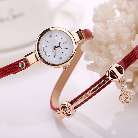 Ladies Women Bracelet Watch Metal Strap Watch Dress Watches Clock Gift Table Montre Femme Feida