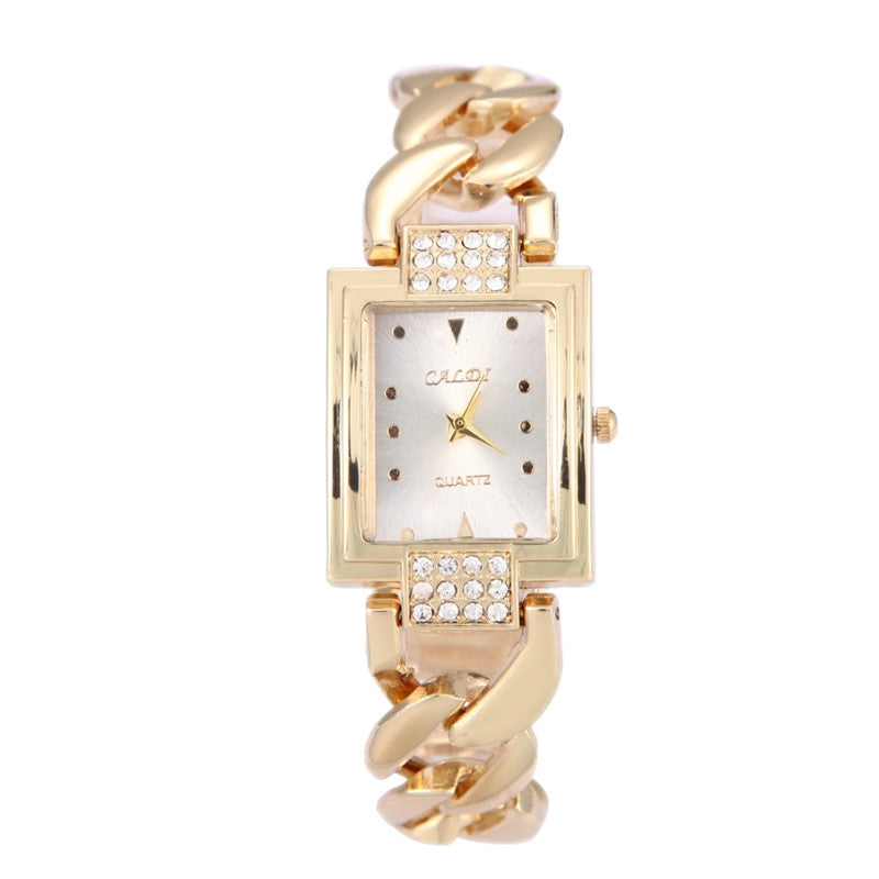 New Top brand luxury Fashion Stainless Steel Square Watch Women Dress Watches Bracelet Watch relogio feminino