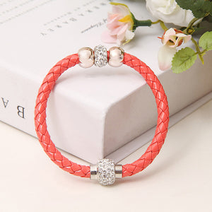 2016 New Fashion Genuine Braided leather bracelet Men Bracelet for Women Jewelry with Magnetic Clasps Charm Bracelet