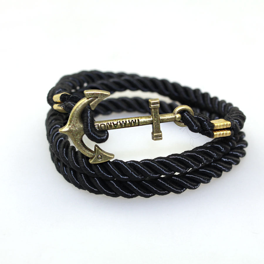 2016 Summer Style Friendship Anchor Charm Bracelets Fashion Vintage Leather Bracelets&Bangles For Men Women Jewelry Pulseras - Cerkos.com