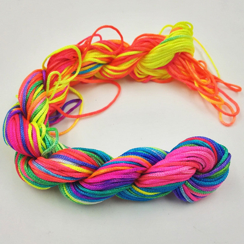 1mm*26m Nylon Cord Thread Chinese Knot Macrame Bracelet Braided String Knit