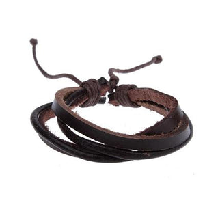 2015 New Fashion Genuine Leather Bracelets For Women Men Punk Braided Bracelets Bangles Wholesale Pulseira Masculina