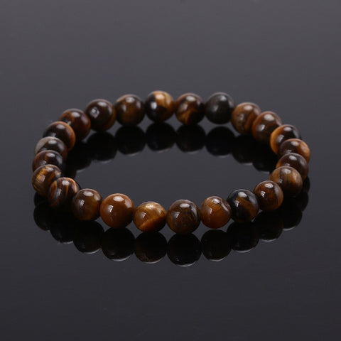 Tiger Eye Bracelets Bangles Elastic Rope Chain Natural Stone Friendship Bracelets For Women and Men Jewelry 2016