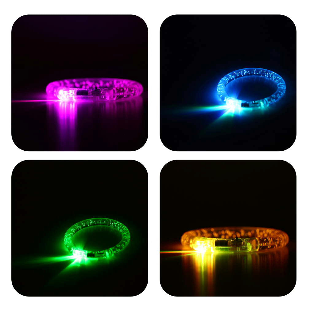 1pcs Blinking LED Flash Bracelet Bangle Colorflu Color Changing Party Club Stage Hot Selling