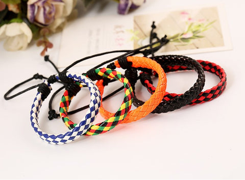 Free Shiping 2X/lot adjustable unisex jewelry fine jewelry nice colorful braid flat bracelet for girls and boys Summer jewelry