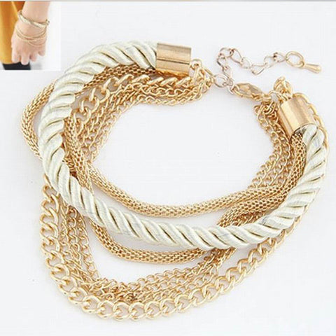 New 4Colors Design Girl Jewelry Handmade Bohemian Multilayer Bracelets Women Charm Bracelets & Bangle Wholesale Price EB424