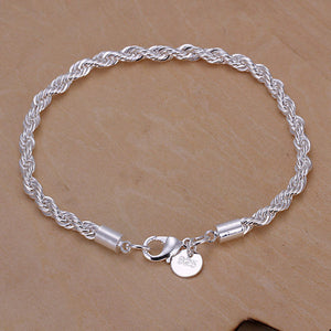Brand New 2017 Factory Directly selling,  silver plated fashion bracelet Jewelry.  H207