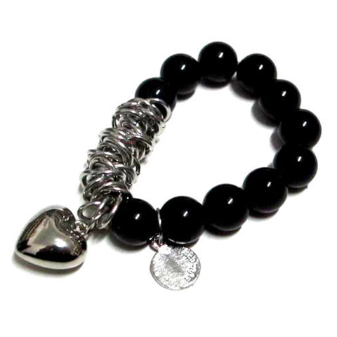 European Authentic Fine BEADS jewelry silver plated Heart Sequin Charm bracelets for women Original DIY Jewelry HB079