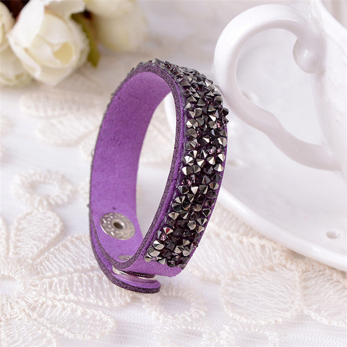 2015 Fashion Leather Bracelet multicolor Charm Bracelets Bangles For Women