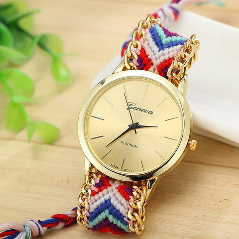 13 Colors Hand-Woven Watch Ladies Quarzt Watches reloj New Brand Handmade Braided Relojes Friendship Bracelet Watches