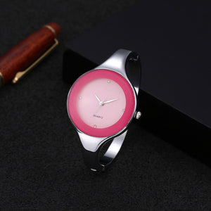 2016 Top Brand Women Bracelet Watches Crystal Dress Ladies fashion Stailess Steel Round Dial unique designer quartz watch