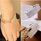 Bracelet femme 2015 fashion luxury super flash elegant all over the sky star wristband bracelets crystal bracelet