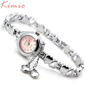 KIMIO Famous Brand Women Luxury Watches Womens Wrist Quartz-Watch With Diamond Females Wristwatches Ladies Bracelet Watches