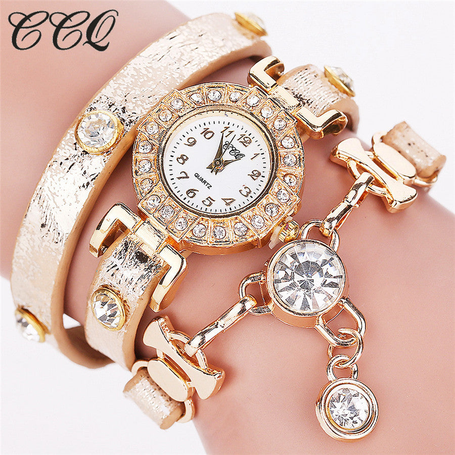 Hot Sell Fashion Women Bracelet Watch Women Wristwatch Casual Luxury Brand Quartz Watch Relogio Feminino Gift 1643