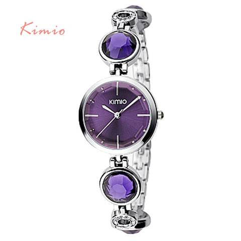 2016 Luxury Fanshion Quality Brand Kimio Crystal Diamond Bracelet Watches Women Quartz Watch Woman Dress Wristwatches Christmas