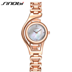 SINOBI Bracelet Watch Women Hardlex Wrist Watch for Women Rose Gold Ladies Watches Elegant Montre Femme 2016 Relogio Feminino