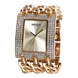 WEIQIN Luxury Crystal Diamond Gold Bracelet Watches Women Ladies Fashion Bangle Dress Watch Woman Clock Hour Relogio Feminino