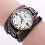 CCQ Vintage Cow Leather Bracelet Watch High Quality Antique Women Wrist Watch Casual Quartz Watch Relogio Feminino 1347